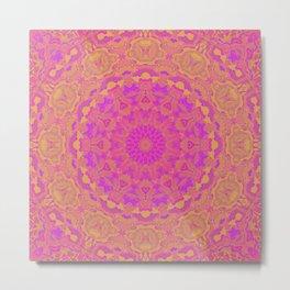 Pink, Orange, and Yellow Kaleidoscope 4 Metal Print