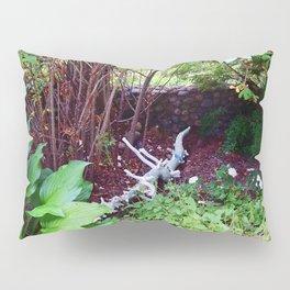 Painted Log in Garden Pillow Sham