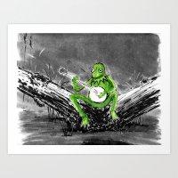 kermit Art Prints featuring Kermit by Stewart Cook