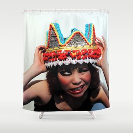 Don't You Dare Touch My Crown Shower Curtain