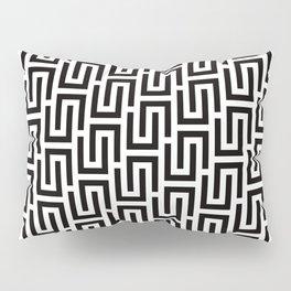 Geometric Pattern #140 (black white) Pillow Sham