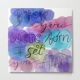 Jeremiah 1:5 - Watercolor Metal Print