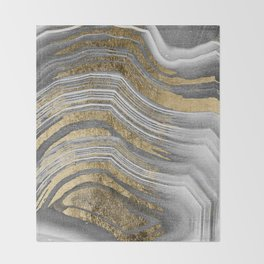 Abstract paint modern Throw Blanket