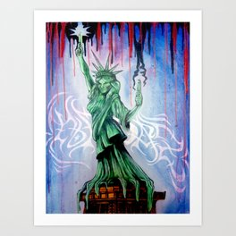 Statue of Liberty by Topaz Art Print