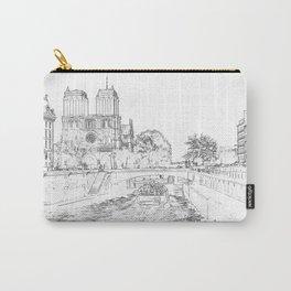 Illustration of Notre Dame de Paris Carry-All Pouch