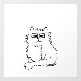 How Do You Like Meow Hipster Kitten Art Print