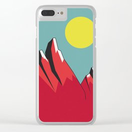 Abstract Landscape - Snow Peak Mountains Clear iPhone Case