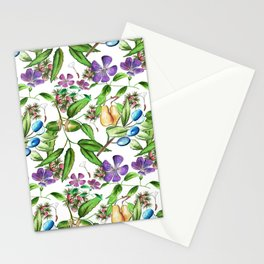 Floral naïf pattern Stationery Cards