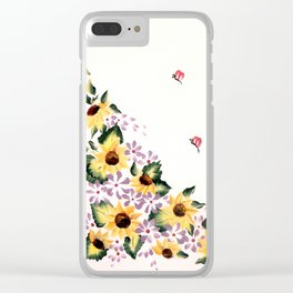 Sunflower Surprise! Clear iPhone Case