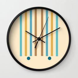 Parallel Lines 03 - Minimal Geometric Print  Wall Clock