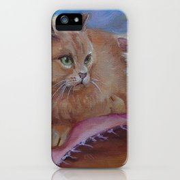 Cat Family Red Maine Coon Cat portrait Decor for Pet lover iPhone Case
