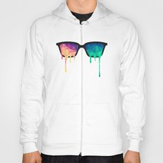 Psychedelic Nerd Glasses with Melting LSD/Trippy Color Triangles Hoody