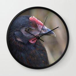 Black Hen 4 Wall Clock