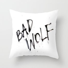 Doctor Who bad wolf Throw Pillow