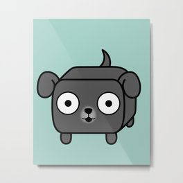 Pitbull Loaf - Blue Grey Pit Bull with Floppy Ears Metal Print