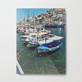Boats in Greece Metal Print