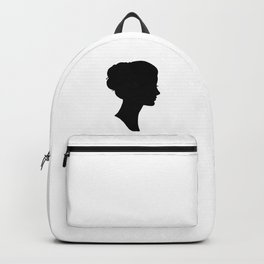 Can't Stop Thinking About Her - Minimalist Black Silhouettes 1 Backpack