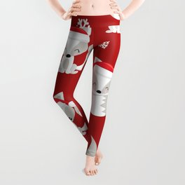 THE SPELL OF THE CHRISTMAS FOXES Leggings