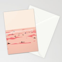 Sunset Tiny Surfers in Lima Illustrated Stationery Cards