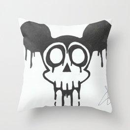 gothic mickey Throw Pillow