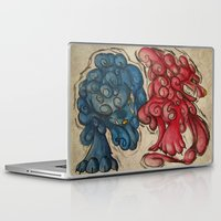 foo fighters Laptop & iPad Skins featuring Foo Dogs by Easley
