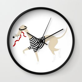 Whippet Thief Wall Clock