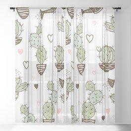 Water the Cactus Sheer Curtain