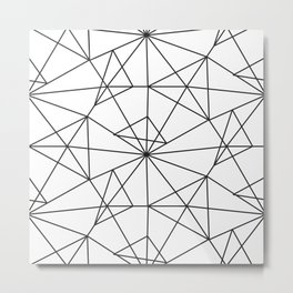 Contemporary black white abstract geometrical Metal Print