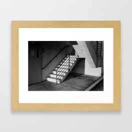 Parking Deck Stairs Framed Art Print