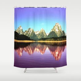 Grand Tetons 🌄 Purple Reflection Shower Curtain