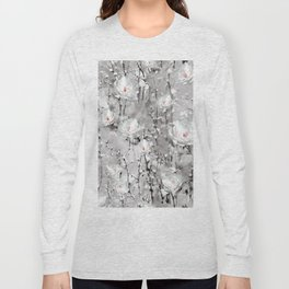 White Snow Flowers Long Sleeve T-shirt