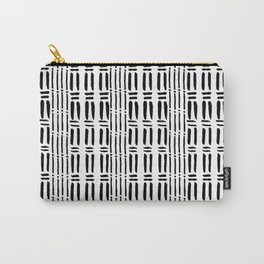 Black white hand painted watercolor brushstrokes pattern Carry-All Pouch