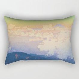 Above the Clouds (Un-Hyo)  Vintage Beautiful Japanese Woodblock Print Hiroshi Yoshida Rectangular Pillow