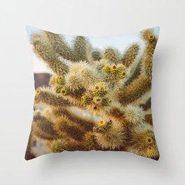 Cholla Cactus Garden IV Throw Pillow