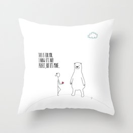Not Perfect Throw Pillow