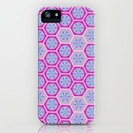 Hexagonal Dreams - Pink & Purple iPhone Case