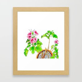 Pink Geraniums Framed Art Print