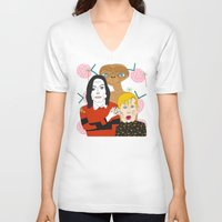 home alone V-neck T-shirts featuring Home alone? by Elena Éper