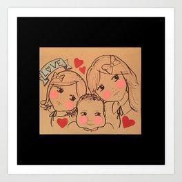 Cousin Love Art Print