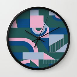 Outlandish Blocks Wall Clock