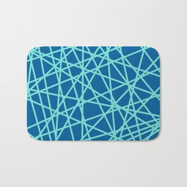 Lazer Dance Blue Bath Mat