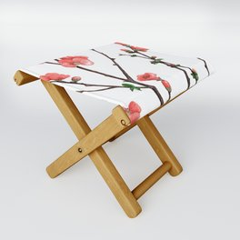 Flowering Quince Painting Folding Stool
