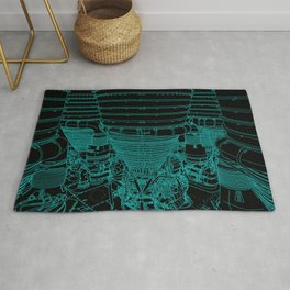 Apollo Rocket Booster - Green Neon Rug