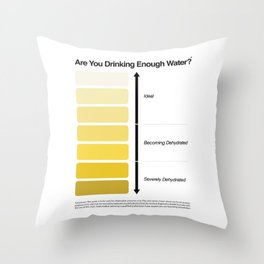 Pee Color Chart / Urine Color Chart Throw Pillow