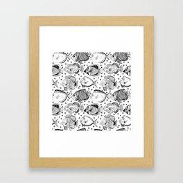 Fish - the school Framed Art Print