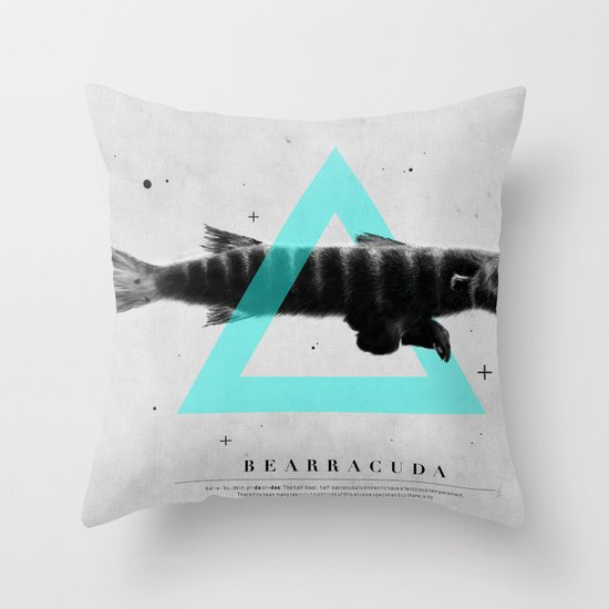 Bearracuda Throw Pillow