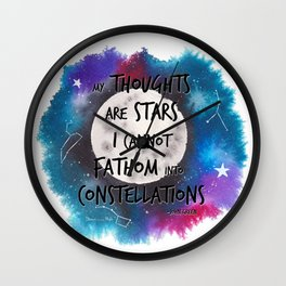John Green quote from The Faults in Our Stars Wall Clock
