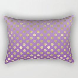 Purple Ombre Gold Dots Rectangular Pillow