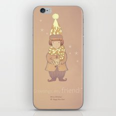 Christmas creatures- The Visiting Friend iPhone & iPod Skin
