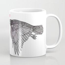 Crow Flies Around With Something On His Mind Coffee Mug